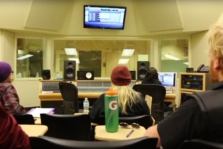 Group of students in Recording Studio
