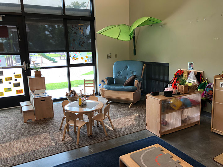 Toddler learning and play area