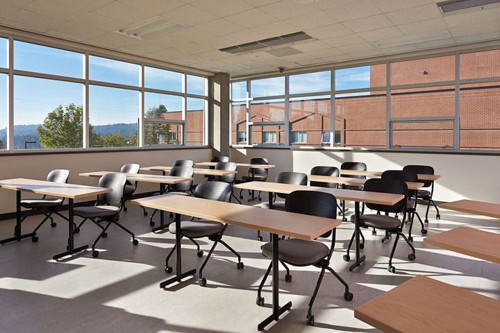 Upper level classroom in Building 30