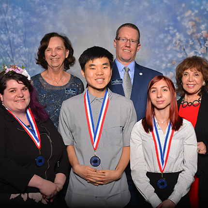 "Dr. Nancy Szofran, Dr. Kevin Brockbank, Dr. Christing JOhnson (back row, left to right) with Kara Roadruck, Jinwoo ""James"" Kim, Abby Gillen (front row left to right)"