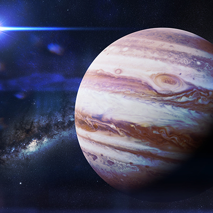 Photograph of the planet Jupiter