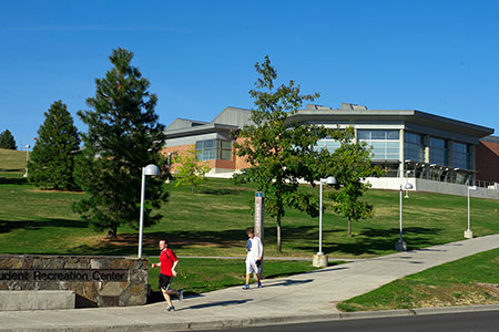 Photo of WSU Recreation Center exterior.