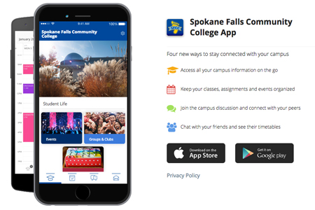 SFCC mobile app screenshot